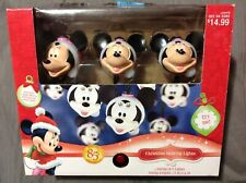 Christmas Disney Minnie Mouse with Santa Hat Dancing Lights 1 String of 8 Lights