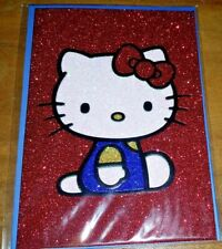 SANRIO PAPYRUS ANY OCCASION CARD BLANK HELLO KITTY GLITTER SPARKLY