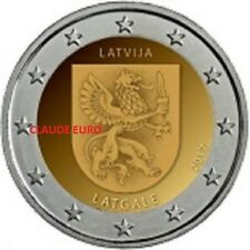 2 EURO COMMEMORATIVE UNC LETTONIE 2017 REGIO LATGATE