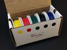 Litzen Sortiment | 5x 10m | Rot,Schwarz,Grün,Blau,Gelb | AWG28 | Kabel,Wire