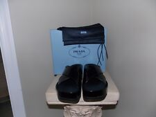 Women's NIB Black PRADA Calzature Donna Sandals Size 39.5(9.5)