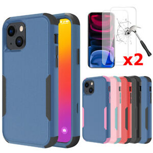 Shockproof Case For iPhone 13 12 11 Pro Max XR Heavy Duty Cover+Screen Protector