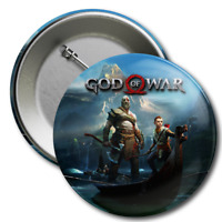 GOD OF WAR Pin Collector's Button Badge Sony Playstation 4 PS4 Kratos Atreus