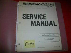 BRUNSWICKMARINE ELECTRIC THRUSTER 1990 SERVICE MANUAL IN BINDER  # 90-816427