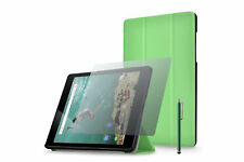 Funda (Smartcase PU) para Google Nexus 9 - Verde + lápiz + protector