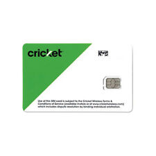 CRICKET WIRELESS NANO SIM Card • GSM 4GLTE • NEW • AT&T Network MVNO • Swap SIM