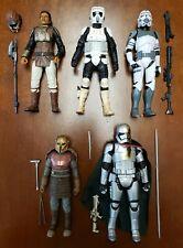 "Hasbro Star Wars Black Series Loose 6"" Action Figure Lot x5 Clone Trooper Amorer"