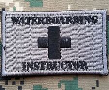WATER BOARDING INSTRUCTOR USA ARMY 3D MORALE TACTICAL EMBROIDERY HOOK LOOP PATCH