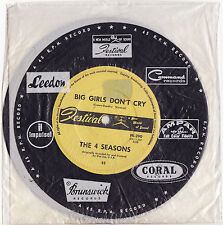 THE FOUR SEASONS - BIG GIRLS DON'T CRY Very rare 1962 Aussie POP Single Release!