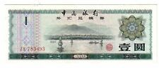 Cina  China Foreign exchange   1 yuan   1979   FDS  UNC    pick  FX3 lotto  2059