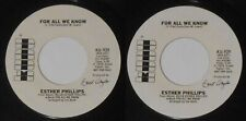 """Esther Phillips - For All We Know - 1976 U.S. promo 7"""" vinyl"""