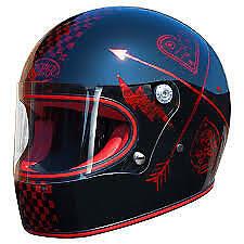 Premier Trophy Vintage Full Face Motorcycle Helmet NX Red Size XL XLarge (61/62)
