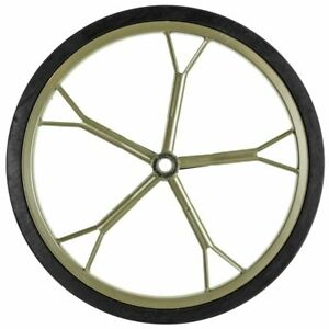 """18.5"""" Solid Rubber Game Cart Replacement Rim Tire 3/4 Axle"""