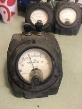 "Antique Weston ""Galvanometer"" Dc Gauge Model 375 Steampunk Art"
