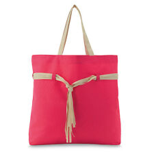 Beach or shopping bag, Large (49x40x10.5 cm) 2 Straps PINK ORANGE GREEN unlined