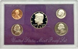 1990 NO S Lincoln Penny Proof Set OGP US Mint VERY RARE!