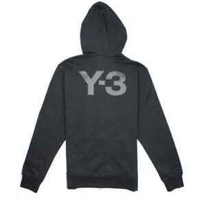 Y-3 Mens Hooded Zip Up Jacket Black Noir