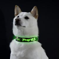 Bagoo SAFETY LED Camo Dog Pet Light Up Collar Night Glow Adjustable Bright