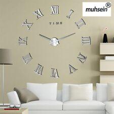 Large Wall Clock Fashion Big Wall 3D DIY Acrylic Mirror Sticker Quartz Clock