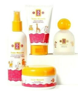 Jafra Tender Moments 1-2-4 SET Cologne + Hair Detangler + Shampoo + Solid Cream