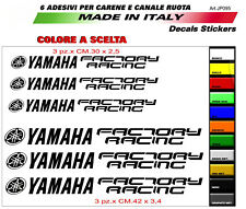 Adesivi per Yamaha R6/R1 diapason yamaha factory racing per carene e ruote