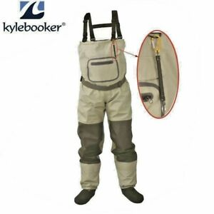 Waterproof Pants Stocking foot River  Fly Fishing Chest Waders Breathable