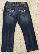 CROWN HOLDER Embroidered & Embellished Jeans -RN3798D- Men's Size 40 x 34