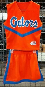 Real Authentic Alleson Orange Blue Florida Gators Cheerleading Cheer Uniform