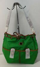 NWT Dooney & Bourke Nylon Large Drawstring Bag Kelly Green