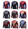 Super Hero Men's Marvel Compression Long Sleeve T-shirt Gym Fitness Cylcing Top
