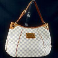 LOUIS VUITTON GALLIERA PM Shoulder Bag Hobo Purse Damier Azur N55215
