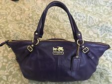 COACH Madison Leather LARGE Sophia Handbag Satchel Purse 15955 in Purple