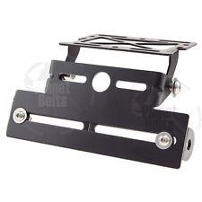 Black Adjust Fender Eliminator Universal Motorcycle Rear License Plate Bracket