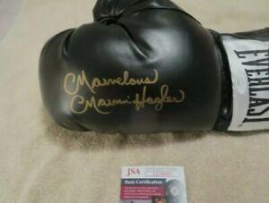MARVELOUS MARVIN HAGLER Autograph Signed Leather Everlast Boxing Glove -JSA
