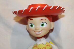 "Disney Pixar Thinkway Toy Story 15"" Talking Pull String Jessie Doll Cowgirl Wrks"