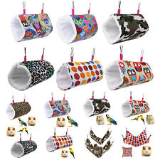 Pet Bird Hamster Ferret Rat Squirrel Hammock Hanging Cage Nest Bed House Toys