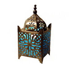 Fair Trade Hand Crafted Turquoise Fabric Table Lamp Moroccan Style