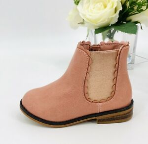 NEW Toddler Girl's Ashley Ankle Booties Size 6 Shoe Blush Pink Boot Cat & Jack