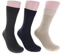 6 Pairs Men's Size 10-13 Black Tan Gray Blue Formal Fashion Business Dress Socks