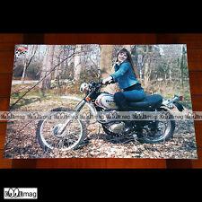JANE BIRKIN SUR HONDA XL 250 EN 1973 - Poster MOTO MOTORCYCLE MOTORRAD #PM1064