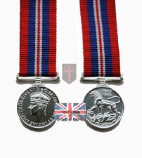 Official 1939 - 1945 Miniature WW2 War Medal and Ribbon ( High Quality