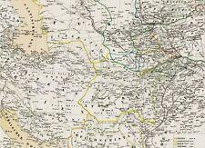 Vecchia cartina Afghanistan a Herat Kandahar Kunduz Kabul Torkham Khyber 1844