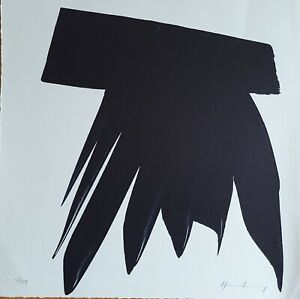 Hans Hartung Limited Edition hand signed lithograph.