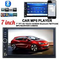 "7"" LCD 2 DIN Car Stereo MP5 Player Touch Screen In Dash FM Radio Bluetooth GPS"