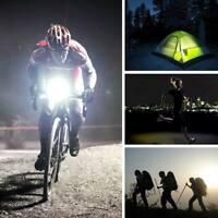 Fahrrad LED Solar USB 2.0 Wiederaufladbare Frontscheinwerfer Licht Lampe Schwarz
