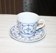 5 Vintage Rare Eisenberg Jager Blau Saks Cups & Saucers Germany Blue Pattern