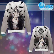 Anime Hoodie Overlord Albedo Unisex winter warm Casual Sweatshirt Coat Jacket