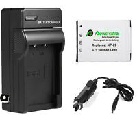 NP-20 Battery + Charger for Casio Exilim EX-Z77 EX-Z70 EX-Z60 S770 S880 EX-Z75