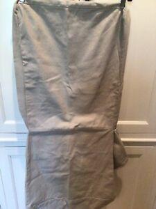 Pottery Barn Megan Chair slipcover side chair khaki canvas short skirt