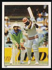 1983 Scanlens Cricket Sticker unused number 122 Desmond Haynes